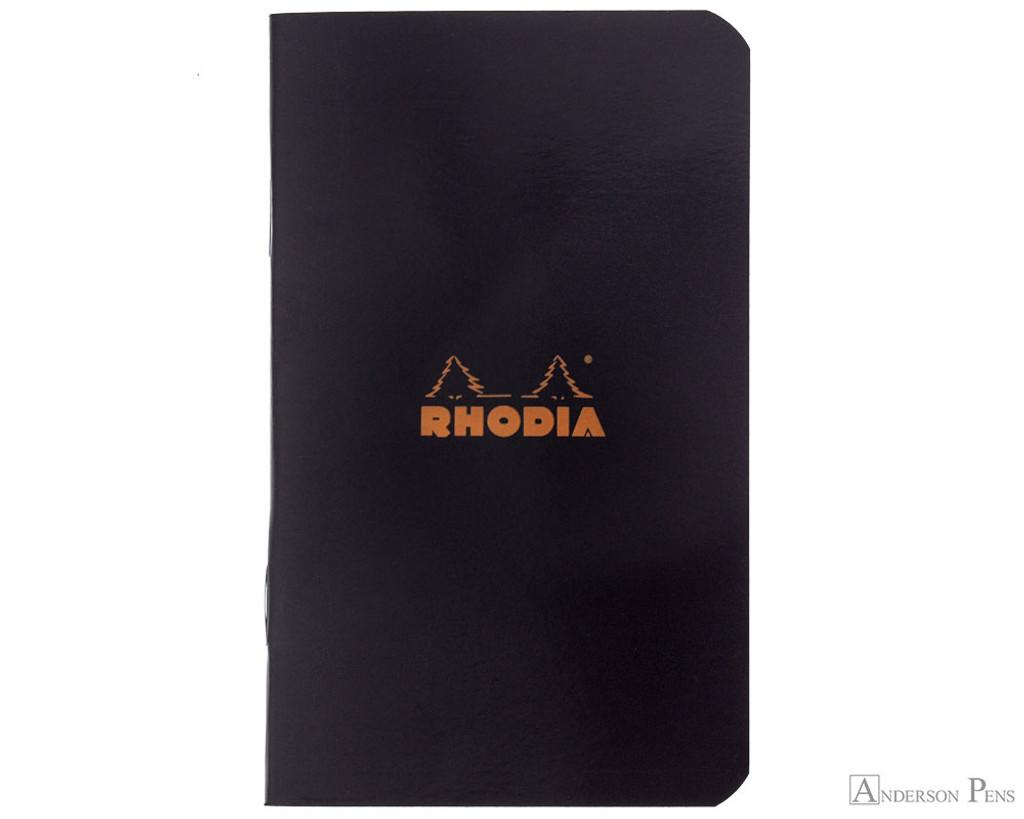 Rhodia Staplebound Notebook - 3 x 4.75, Graph - Black