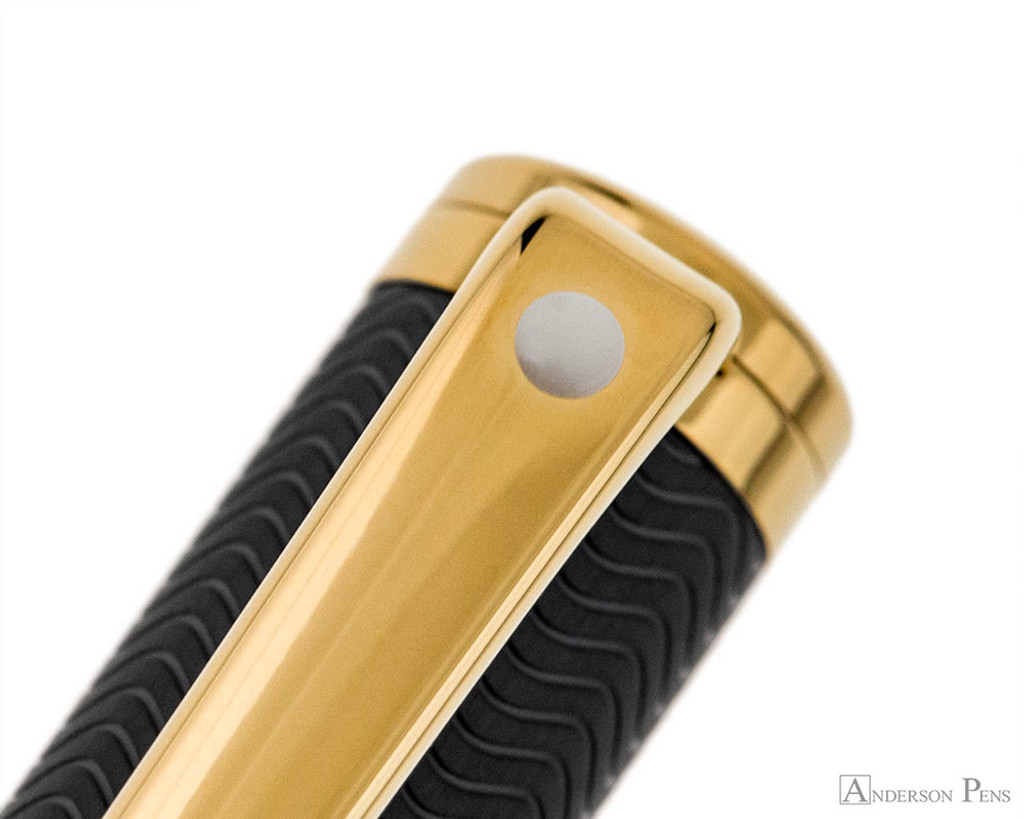 Sheaffer Intensity Ballpoint - Matte Black with Gold Trim - Clip