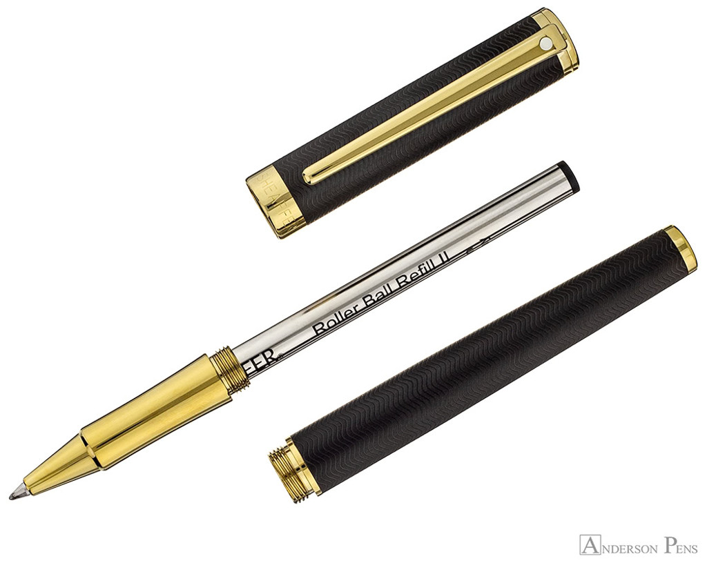 Sheaffer Intensity Rollerball - Matte Black with Gold Trim