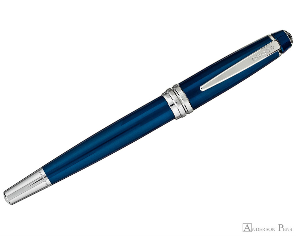 Cross Bailey Rollerball - Blue Lacquer with Chrome Trim