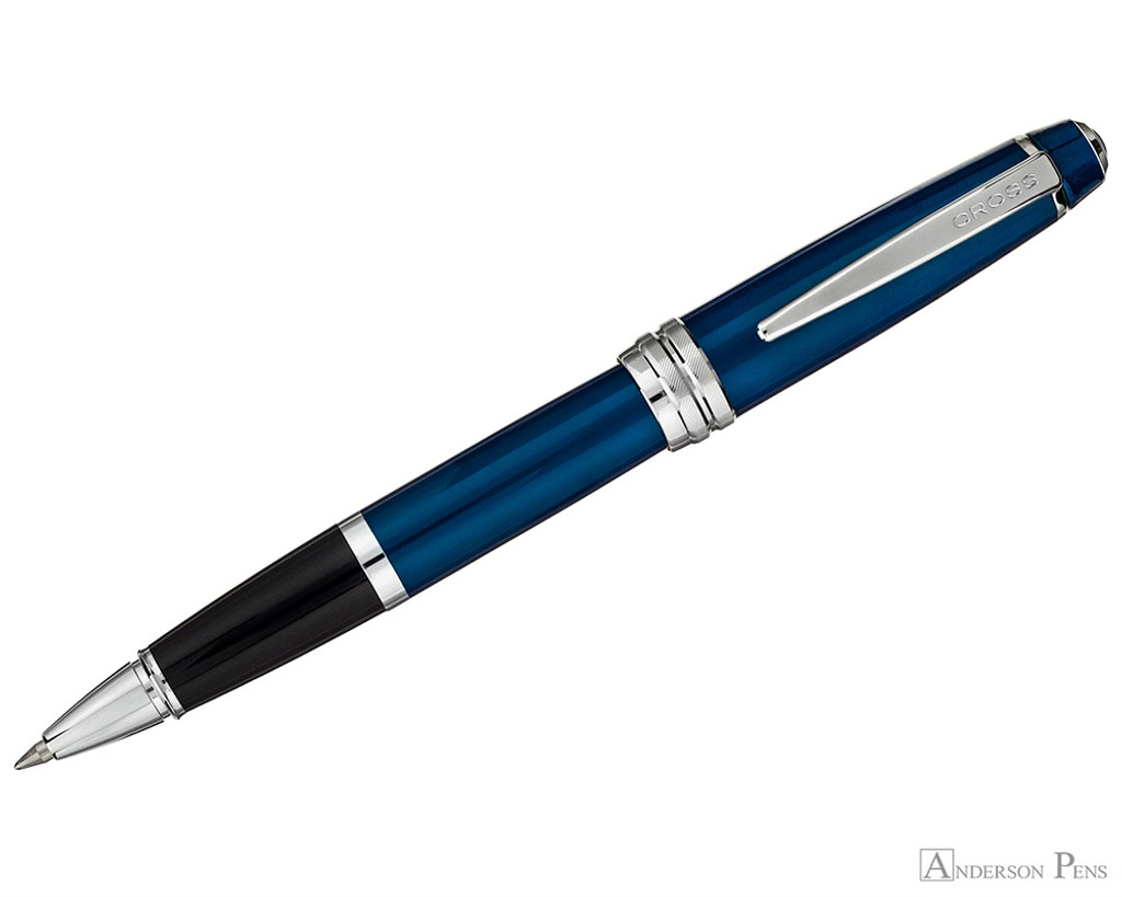 Cross Bailey Rollerball - Blue Lacquer with Chrome Trim - Posted
