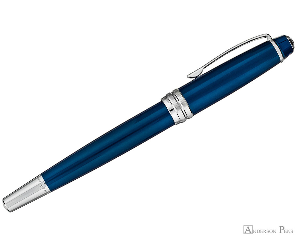 Cross Bailey Rollerball - Blue Lacquer with Chrome Trim - Profile