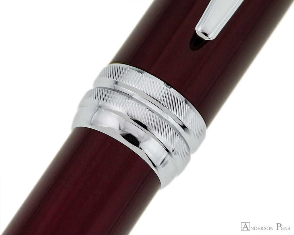 Cross Bailey Ballpoint - Red Lacquer with Chrome Trim