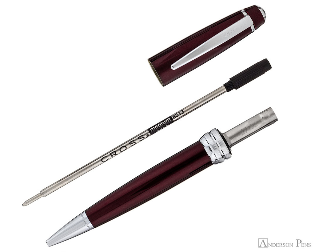Cross Bailey Ballpoint - Red Lacquer with Chrome Trim - Parted Out