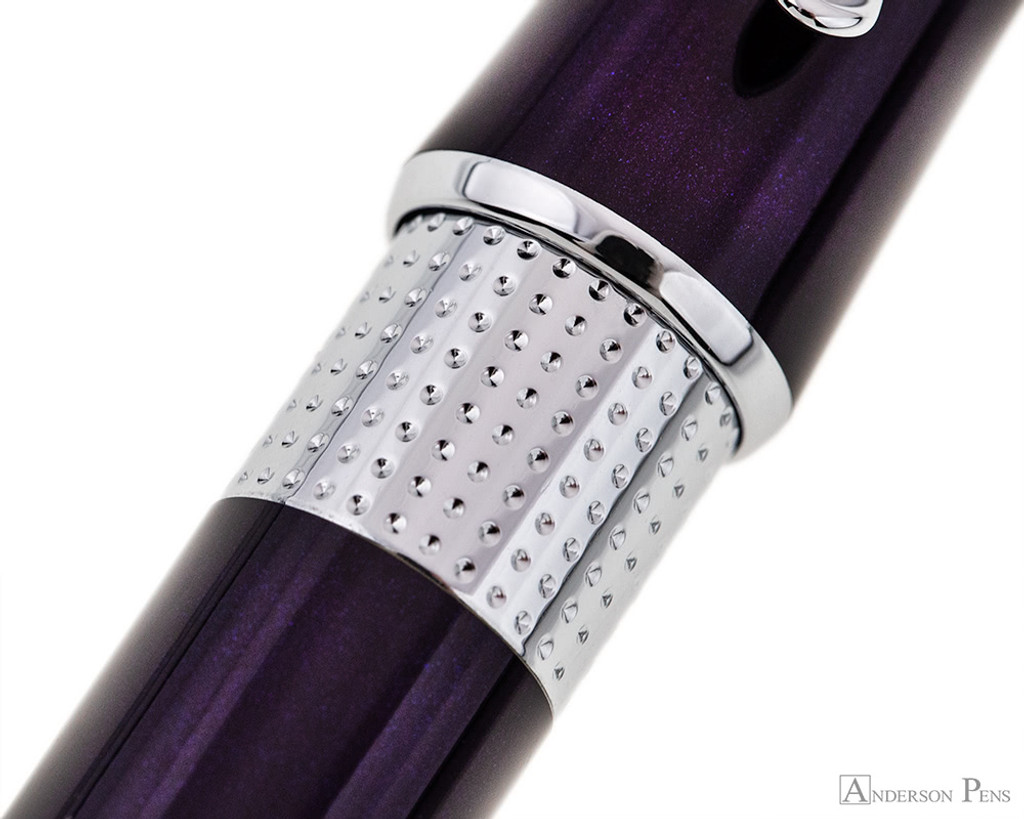 Cross Beverly Rollerball - Deep Purple Lacquer with Chrome Trim - Pattern