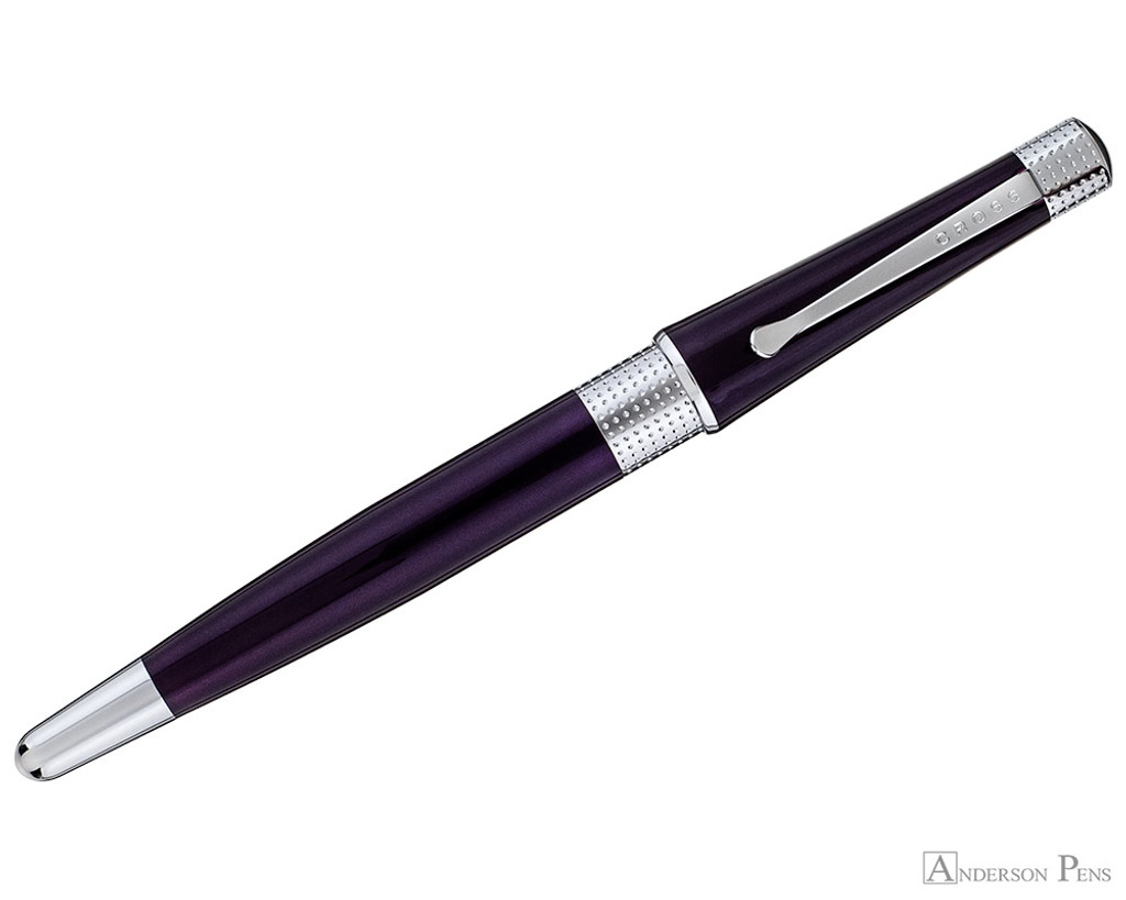 Cross Beverly Rollerball - Deep Purple Lacquer with Chrome Trim