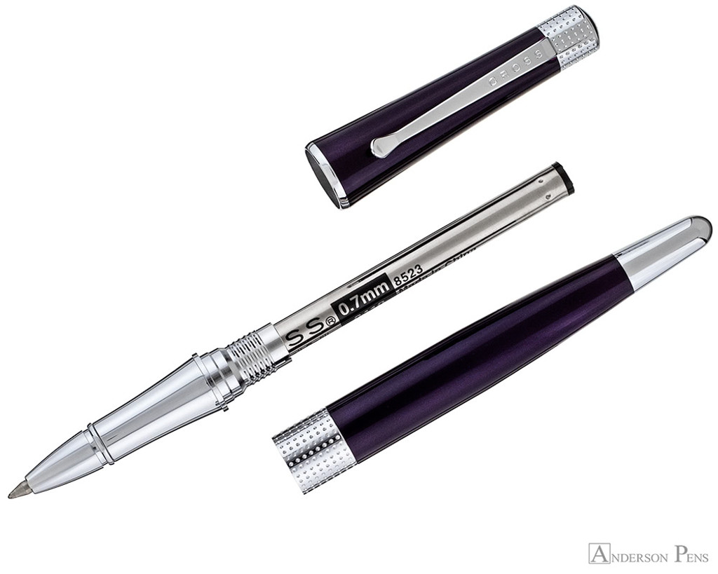 Cross Beverly Rollerball - Deep Purple Lacquer with Chrome Trim - Parted Out