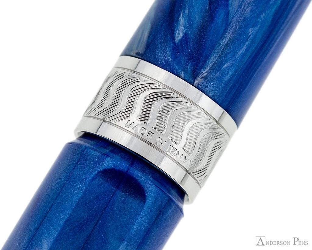 Visconti Mirage Fountain Pen - Aqua - Cap Band 2