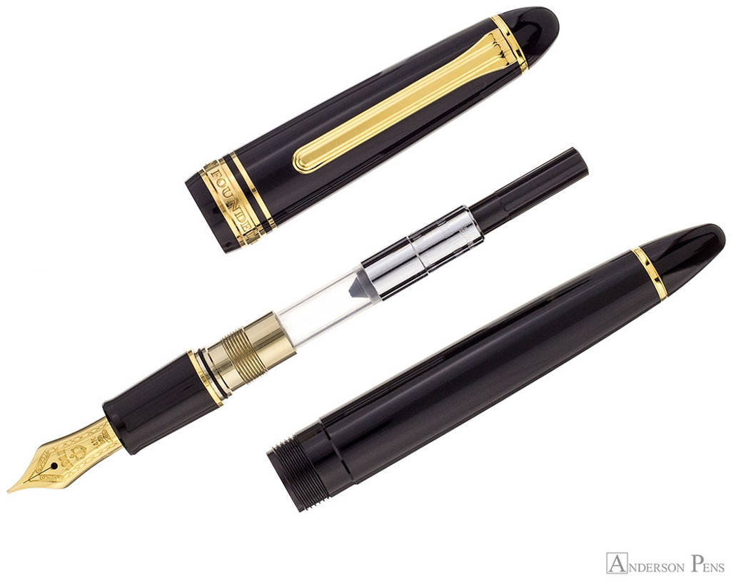 Sailor 1911 Standard Fountain Pen - Black with Gold Trim - Parted Out