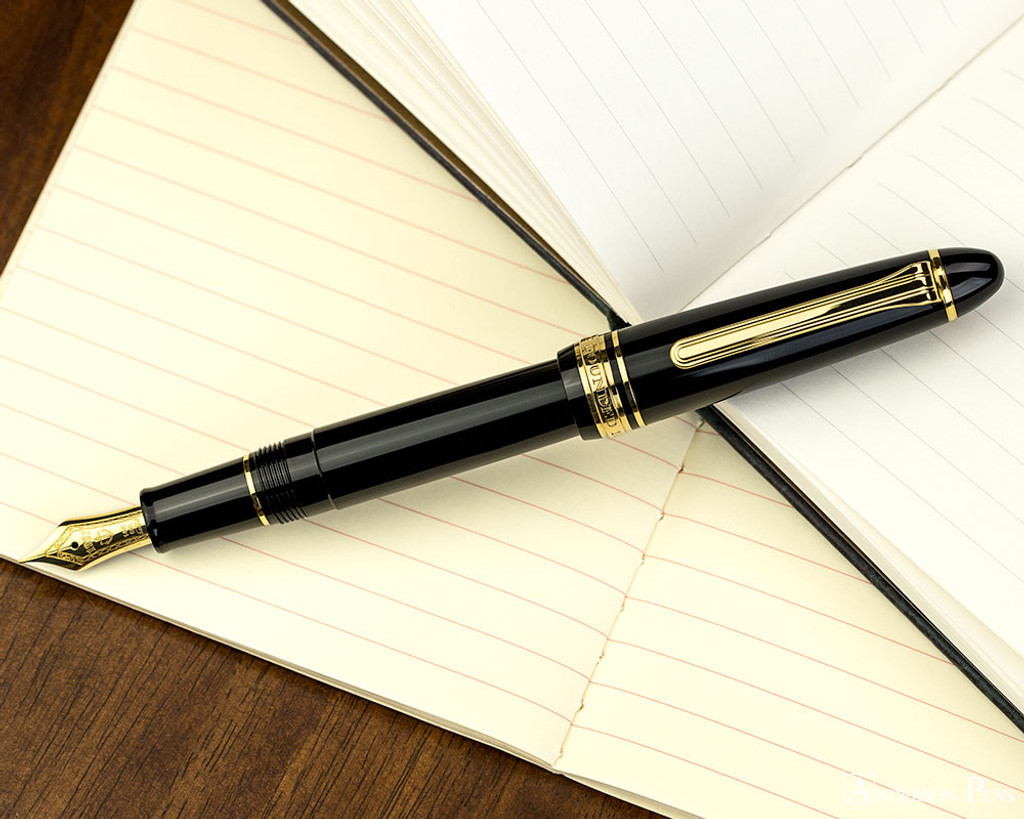 Sailor 1911 Standard Fountain Pen - Black with Gold Trim - Posted on Notebook
