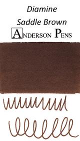 Diamine Saddle Brown Ink Color Swab