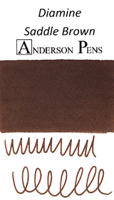 Diamine Saddle Brown Ink Color Swab