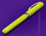 Visconti Breeze Fountain Pen - Lemon on Notebook