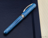 Visconti Breeze Fountain Pen - Blueberry on Notebook