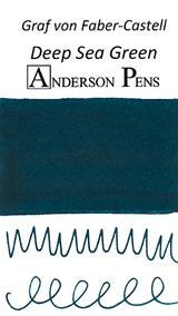 Graf von Faber-Castell Deep Sea Green Ink Cartridges color swab