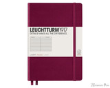 Leuchtturm1917 Notebook - A5, Lined - Port Red