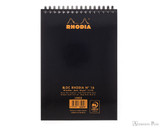 Rhodia No. 16 Wirebound Notepad - A5, Lined - Black - Back