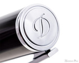 S.T. Dupont D-Initial Black and Chrome Rollerball - Cap Top