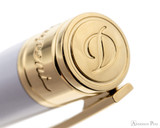 S.T. Dupont D-Initial Pearly White and Gold Ballpoint - Cap Top