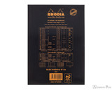 Rhodia No. 16 Staplebound Notepad - A5, Blank - Black - Back