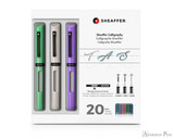 Sheaffer Calligraphy Maxi Kit - Neo-Mint, White, Lavender - Packaging