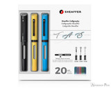 Sheaffer Calligraphy Maxi Kit - Black, Yellow, Blue - Packaging