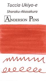 Taccia Ukiyo-e Ink - Sharaku Toshusai - Sharaku-Akasakura (Red Cherry)-  Ink Swab Sample