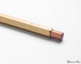 ystudio Classic Brass Copper Mechanical Pencil - end