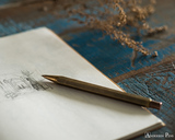 ystudio Classic Brass Copper Mechanical Pencil - On Notebook