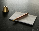 ystudio Classic - Copper Brass Desk Fountain Pen - On Desk 2