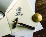 ystudio Brassing - Brass Rollerball Pen - On Paper