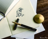 ystudio Brassing - Brass Rollerball Pen - On Paper