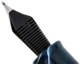Penlux Masterpiece Grande Fountain Pen - Blue Swirl - Feed