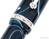 Penlux Masterpiece Grande Fountain Pen - Blue Swirl - Trimband