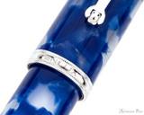 Penlux Masterpiece Grande Fountain Pen - Blue & White Koi - Trimband