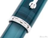 Penlux Masterpiece Grande Fountain Pen - Deep Sea - Trimband