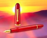 Penlux Masterpiece Grande Fountain Pen - Daybreak - Beauty 1