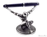 Jac Zagoory Atlas Pewter Pen Holder- Holding Pen