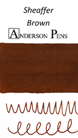 Sheaffer Skrip Brown Ink Color Swab