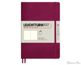 Leuchtturm1917 Softcover Notebook - A5, Blank - Port Red