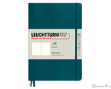 Leuchtturm1917 Softcover Notebook - A5, Blank - Pacific Green