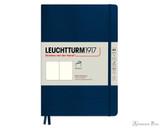 Leuchtturm1917 Softcover Notebook - A5, Blank - Navy