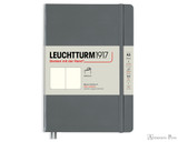Leuchtturm1917 Softcover Notebook - A5, Blank - Anthracite