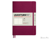 Leuchtturm1917 Softcover Notebook - A5, Dot Grid - Port Red