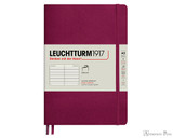 Leuchtturm1917 Softcover Notebook - A5, Lined - Port Red