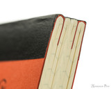 Life Noble Notebook - A5, Graph - Orange - Binding