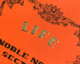 Life Noble Notebook - A5, Graph - Orange - Detail