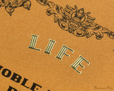 Life Noble Notebook - A5, Blank - Brown - Detail