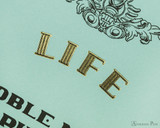 Life Noble Notebook - A5, Lined - Blue - Detail