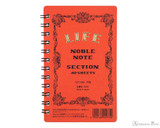 Life Noble Wirebound Notebook - 3 x 5, Graph - Orange